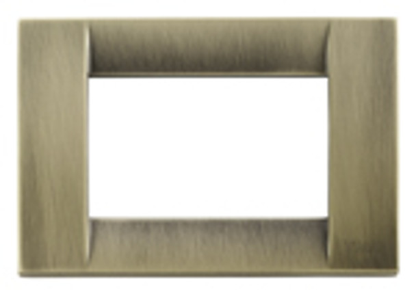 Antique brass 3M plate square on a white background