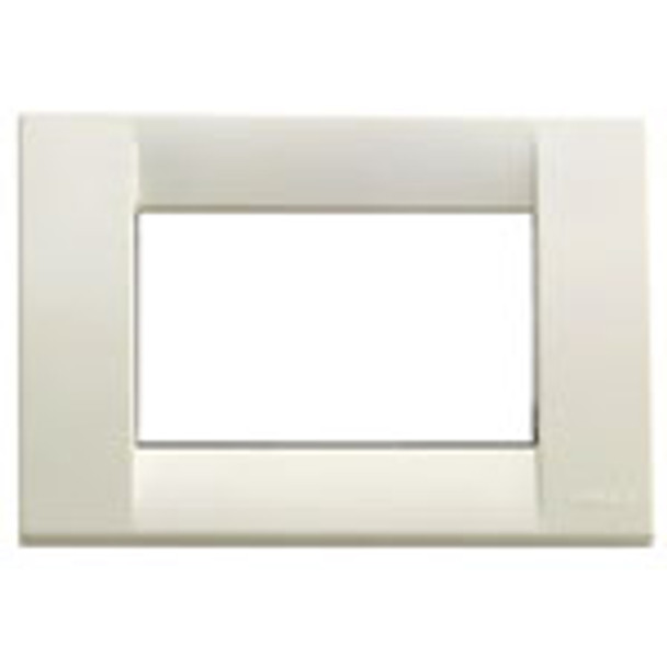 a white Classica cover plate. Square with hollow center on a white background