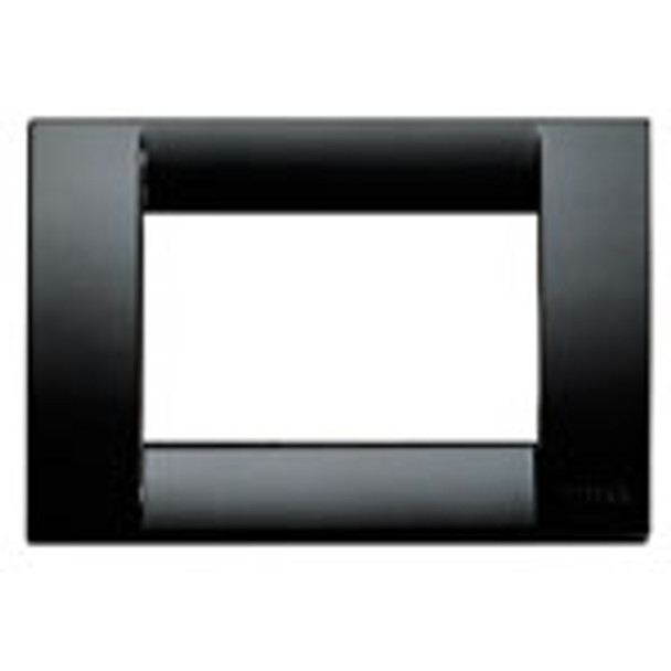 Black Square Plate 3M on a white background