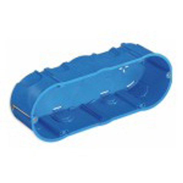 Flush Mount Box 6-7M Hollow Walls Blue