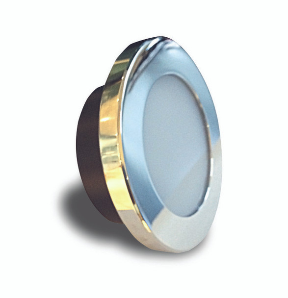 A round Alian 105mm. Shiny mirror bezel, Foggy glass lens. On a white background