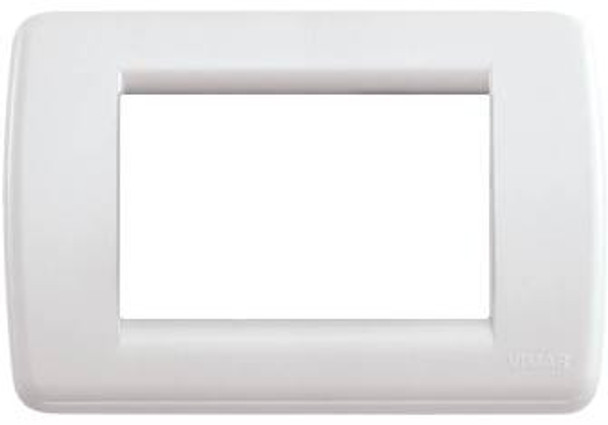White square cover plate with rounded corners on a white background