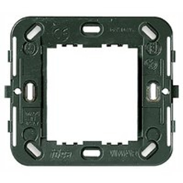Grey square mounting frame with rounded corners on a white background