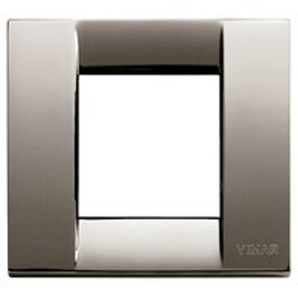 Black chrome square plate cover. On a white background