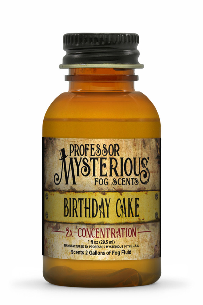 Professor Mysterious Birthday Cake Fog Scent, 2x concentrate