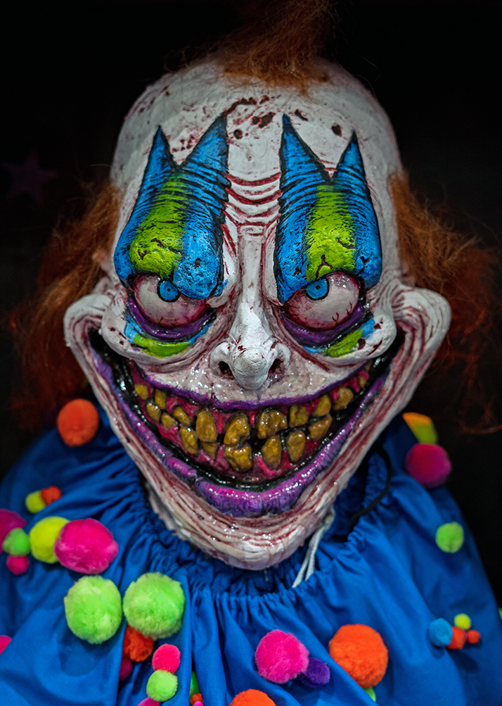 That is, in fact, one creepy clown.