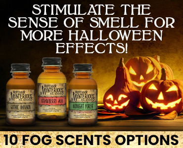 Stimulate the sense of smell for more Halloween effects with our fog fluid scents!