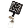 Zebra striped ID badge reel