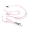 Positively Pink Beaded Lanyard Necklace