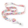 Bright Paisley Ribbon Lanyard