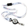 Trust the Lord ribbon lanyard with retractable badge reel