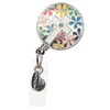 """BooJee Beads """"Daisy Cross"""" ID Badge Reel with Colorful Flowers"""
