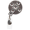 Shine cross rhinestone id badge reel