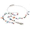 Calypso Cross Fashion chain and colorful bead lanyard