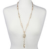 """BooJee Beads """"Juliet Cross"""" Gold Chain Fashion ID Necklace Lanyard"""