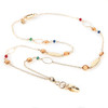 Swansea Gold chain lanyard with colored bead embellishments