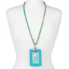 """BooJee Beads """"Gabrielle"""" Teal Colored ID Wallet Lanyard"""