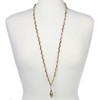 "BooJee Beads ""Golden"" Chain Necklace Lanyard with Tiny Gold Beads"