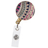 BooJee Beads Ajmeer Colorful Patterned ID Badge Reel in Gold