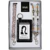 3 Piece Leopard Ribbon, Beaded Lanyard and ID Pocket Gift Set