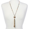 BooJee Beads Zara Gold Fashion Necklace Lanyard with Tassel