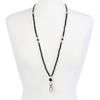 Victoria Black beaded ID necklace lanyard