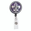 Purple Fleur de Lis ID  Badge Reel