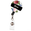 Country Garden floral personalized badge reel