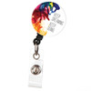 Keep Dreaming Keep Doing Retractable Button Top ID Badge Reel