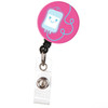 IV Bag  Retractable Button Top Badge Reel for Nurses