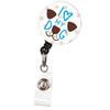 I Love My Dog Animal ID Badge Reel