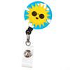 Color Me Sunshine Smiling Sun Retractable Badge Reel ID Name Badge Holder