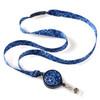 ID Avenue Blue bandanna ribbon lanyard with retractable badge reel