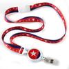 Patriotic Stars Ribbon Lanyard with Retractable Badge Reel