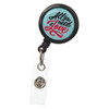 All you need is love retractable badge reel - ID name badge holder