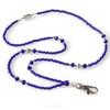 Mariner Blue Beaded Fashion Lanyard ID Necklace Name Badge Holder
