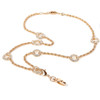BooJee Beads 7 Rings Gold Chain ID Fashion Necklace Lanyard with Rhinestones