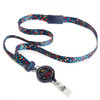 ID Avenue Be Awesome Today Polka Dot Ribbon Lanyard with Badge Reel