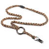 Braided Camo Survivor Cord Lanyard  with detachable keyring