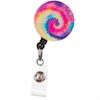 Rainbow Tie Dye Retractable ID Badge Reel
