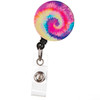 ID Avenue Rainbow Tie Dye Retractable ID Badge Reel
