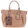 Leopard print travel hand sanitizer holder on purse