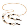 BooJee Beads Cosmopolitan Gold chain and beaded face mask lanyard