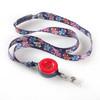 ID Avenue Sock Monkey Fun Patterned Ribbon Lanyard with Detachable Reel