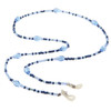 Sky Blue beaded face mask lanyard eyeglass holder