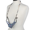 Dawn Dove Beaded Face Mask Lanyard with mask