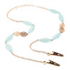 Florence Gold Chain and Beaded Face Mask Lanyard