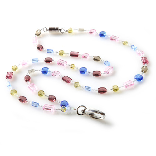 Amethyst Geo Beaded Lanyard for women