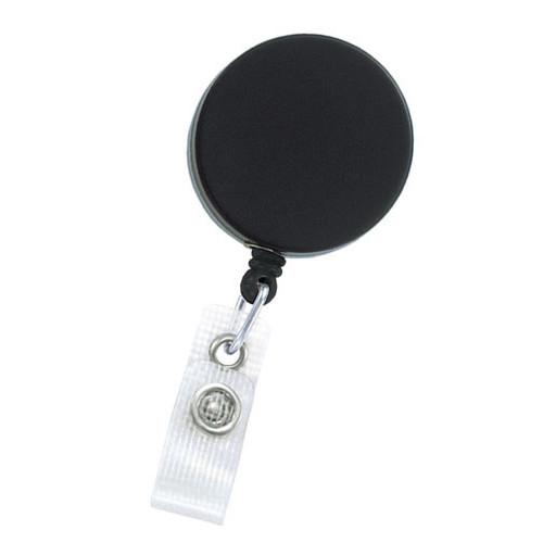 Black & Chrome Fashion ID Badge Reel