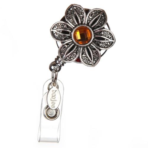 Vintage Flower Badge Reel